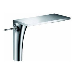 Axor  Massaud Faucet - Tall - As one of the leading international manufacturers of plumbing products, Hansgrohe represents innovation, design, quality and showering pleasure at the highest level. The symbiosis between man, nature and space is the central idea from French designer Jean-Marie Massaud, who made a name for himself in product design as well as with architectural projects. Working with Axor, he has redefined the philosophy of the bathroom with Axor Massaud. With the form of the products, you can recognize the gently curved line of a blade of grass and observe water falling as naturally as if from a spring. In between clear, geometrical forms and ingeniously hidden technology lies Axor Massaud.