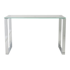 Diego Desk 48''X24'' Glass - A clear desk can help you keep a clear head while you work. This calm-inducing workstation features a clean top-surface aesthetic and a wide-open base, helping to keep your productivity flowing.