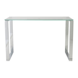 Eurostyle - Diego Desk 48'' x 24'' Glass - A clear desk can help you keep a clear head while you work. This calm-inducing workstation features a clean top-surface aesthetic and a wide-open base, helping to keep your productivity flowing.