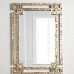"""Horchow - Alexis Mirror - MULTI COLORS - Alexis MirrorDetailsEXCLUSIVELY OURS.Handcrafted mirror.Wood composite frame inlaid with more than a thousand hand-cut capiz-shell tiles.Lacquer finish.Hangs vertically or horizontally.34'W x 1""""D x 48""""T.Imported.Weight 34.17 lbs. Boxed weight approximately 40 lbs. Please note that this item may require additional delivery and processing charges."""