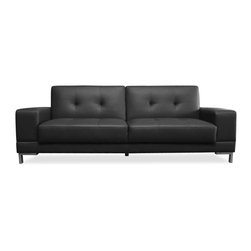 LifeStyle Solutions - Lifestyle Solutions Serta Dream Convertible Sofa in Metropolitan Black - LifeStyle Solutions - Convertible Sofas - SCMTPBKSET