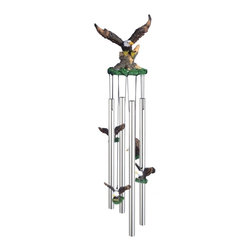 GSC - Wind Chime Round Top Eagle Bird Hanging Garden Decoration Windchime - This gorgeous Wind Chime Round Top Eagle Bird Hanging Garden Decoration Windchime has the finest details and highest quality you will find anywhere! Wind Chime Round Top Eagle Bird Hanging Garden Decoration Windchime is truly remarkable.