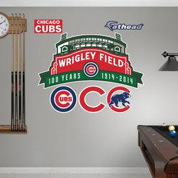 Fathead - Fathead Vinyl Wall Graphic - MLB Wrigley Field 100th Anniversary RealBig Logo