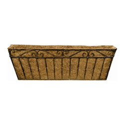 Deer Park Ironworks - Deer Park Ironworks Imperial Window Box with Coco Liner - WB117 - Shop for Planters and Pottery from Hayneedle.com! Provide a cool and attractive place for your plants to hang out with the Deer Park Ironworks Imperial Window Box with Coco Liner. Made of heavy gauge wire and finished with a powder coat our window box planter looks good just about anywhere you place it. Its durable construction means it wears well indoors or outside and the deck rail and iron railing hardware that is included makes installing it under a window or on a deck railing a cinch. The decorative design and natural patina finish blends well with any decor or color scheme and the form-fitted coco liner that comes with it helps with soil and water retention. Choose from small or large sizes to fit your needs.About Deer Park Ironworks Deer Park Ironworks has a reputation as a premier wrought iron lawn and garden company. They create timeless designs with quality materials and price them at competitive rates. All of their products are made from heavy gauge steel and have a durable powder-coated finish which are Earth-friendly since they emit zero or near zero volatile organic compounds. Deer Park's powder-coating finishes also produce a much thicker coating than conventional liquid coatings that sometimes run or sag. Furthermore Deer Park's products feature a unique natural patina appearance that complements any decor or color scheme. And their decorative baskets wall planters and window boxes come with a fitted coco liner that is a natural product that helps with proper drainage and provides a healthy environment for your plants to grow.