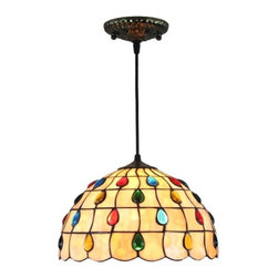 ParrotUncle - Stained Glass Peacock Tiffany Pendant Lamp For Kitchen Dining Room - Stained Glass Peacock Tiffany Pendant Lamp For Kitchen Dining Room
