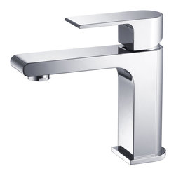 Fresca - Fresca Allaro Single Hole Mount Bathroom Vanity Faucet - Chrome - This single hole faucet is made from heavy duty brass with a chrome finish.  Features ceramic mixing valve for longevity and watertight functionality.