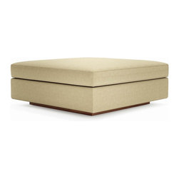 True Modern - Jackson Ottoman - Put your feet up and relax as they rest on the down-wrapped cushion of this ottoman. The oversized piece works great with other Jackson sections or as a coffee table with a large tray placed on top.