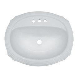 "TCS Home Supplies - Porcelain Ceramic Vanity Drop in Bathroom Vessel Sink - Drop In Bathroom Vessel Sink. Porcelain Ceramic. Dimensions 22-7/8"" x 18-7/8"" x 7-7/8""."