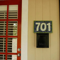 Mosaic House Numbers - Add some color to your home or garden with a house number sign from Green Street Mosaics! Mosaic address plaques are wonderful housewarming, holiday, and wedding gifts!