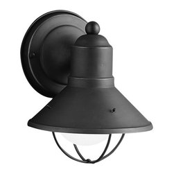 "Kichler - Kichler 9021OZ Seaside Collection 1 Light 8"" Outdoor Wall Light - Kichler 9021 Seaside Outdoor Lantern"