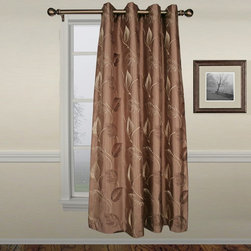 Ellis Curtain - Ellis Astonish Mocha Grommet Top Lined Panel - 50 x 84 in. Multicolor - 73046275 - Shop for Curtains and Drapes from Hayneedle.com! About A.L. Ellis Inc.Established in 1920 by Arthur Linwood Ellis A.L. Ellis Inc. is a 5th generation family owned and operated manufacturing company. With their headquarters located less than an hour away from the manufacturing facility they can easily control the wholesale business and produce their mail order catalogs. Their hand-made products consist of curtains draperies top treatments bedding toss pillows and chair pads.The main objective for A.L. Ellis Inc. is to always provide customers with high-quality products at a competitive price and in a timely manner. Remaining committed to the customer A.L. Ellis Inc. is a trusted company you can count on. Begin decorating your house with any of their products!