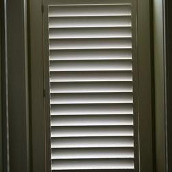 "Lafayette Venetian Blind - Wood Shutters - Wooden Shutters with 4 1/2"" louvers"