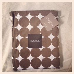 Dwellstudio Dots Chocolate Shower Curtain - Dwellstudio Dots Chocolate Shower Curtain