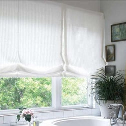 Relaxed Roman Shade - This is an example of a Relaxed Roman Shade.  The lines are clean and soft.