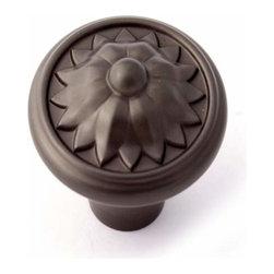 Alno Inc. - Alno Creations Fiore 1 1/4 Inch Knob Chocolate Bronze A1471-Chbrz - Alno Creations Fiore 1 1/4 Inch Knob Chocolate Bronze A1471-Chbrz