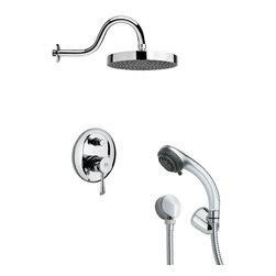 Remer - Sleek Chrome Shower System - Multi function shower faucet.