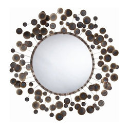 Arteriors - Kensey Mirror - Looking for a fun, unique mirror? Look no further; this Burnt Iron abstract mirror is the answer!