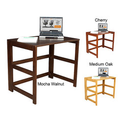 Regency Seating - Flip Flop Home Office Desk - Work on a desk in even the tightest of spaces with this easily collapsible space-saving home office desk. Made from hardwood with a hand-rubbed finish,this desk comes in cherry,mocha,or oak finishes. It measures 28'H x 31'W x 21'D.