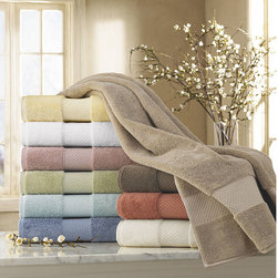 Kassatex - Elegance Turkish Cotton Bath Towel Collection - A new breed of eco-luxury bath towels with ultra-soft and plush long-staple Turkish Cotton. Made in Turkey, these 700 gsm heavyweight European style bath towels have superior resiliency, absorbency and plushness for a five-star feel and performance. The eco-friendly fiber dries up to 25% faster than comparable weight towels and the softness and absorbency only improves with repeated laundering. Bath Rugs, Bath Sheets and Tub Mats are also available in all 10 elegant colors.