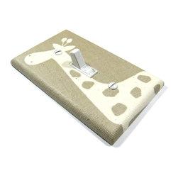 Modern Switch - Natural Burlap Giraffe Light Switch Cover - This light switch cover is made when ordered please allow 1-2 weeks before shipping.