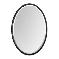 Uttermost Casalina Oil Rubbed Bronze Oval Mirror There