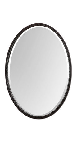Uttermost - Casalina Oil Rubbed Bronze Oval Mirror - There is a place for a mirror or mirrors in every room in your home. Entryway, hallway, dining room, living room, bedroom, bathroom, kid's room and mudroom. And if you live in a loft, you can improvise. There is plenty of wall space, just not many rooms.