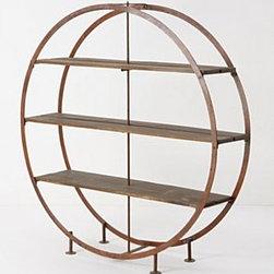 "Anthropologie - Kansai Bookcase - Iron, mango wood71""H, 16.26""D, 70"" diameterImported"