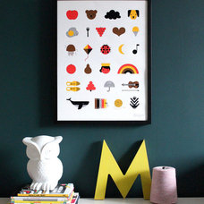Modern Nursery Decor by The Indigo Bunting