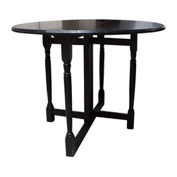 Black Folding Bistro Table - $500 Est. Retail - $250 on Chairish.com -