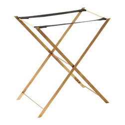 Notre Monde - Large Bronze Tray Stand - This tray stand is perfect for hosting and everyday use. Use it as a side table, small bar, or accent table in your favorite room.
