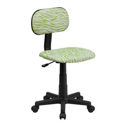 Flash Furniture - Flash Furniture Accent Chair X-GG-NG-Z-TB - This attractive design printed office chair will liven up your classroom, dorm room, home office or child's bedroom. If you're ready to step out of the ordinary then this computer chair is for you! [BT-Z-GN-GG]