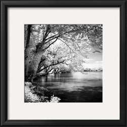 Artcom - Spring on the River Square I by Alan Hausenflock - Spring on the River Square I by Alan Hausenflock is a Framed Art Print set with a ONYX wood frame and a Crisp - Bright White mat.