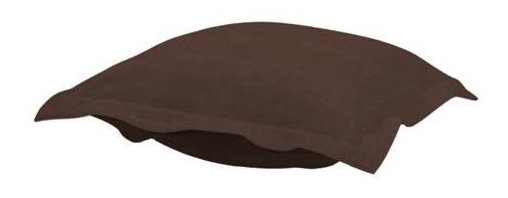 Howard Elliott Sterling Chocolate Puff Ottoman Cushion - Extra Puff cushions in Sterling are a great way to get a fresh new look without the expense of buying a whole new ottoman! Puff cushions fit Scroll ottoman frames. This Sterling cushion features a linen-like texture in a rich chocolate brown.