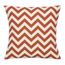 Look Here Jane, LLC - Chevron Rust Natural Pillow Cover - PILLOW COVER