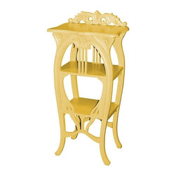 EuroLux Home - New Side Table Yellow Painted Hardwood Harp - Product Details