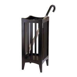 Winsome Wood - Portland Umbrella Stand in Cappuccino Finish - Wood construction. Assembly required. 11.02 in. L x 11.02 in. W x 26.77 in. H
