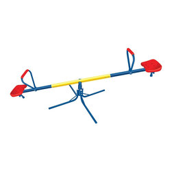 The Original Toy Company - The Original Toy Company Kids Children Play The Original See Saw - A must have for young children to keep fit and burn off that extra energy. This product is designed for outdoor use, easy for storage. Instructions included. Recommended to hold 2 children at the same time up to 155 pounds maximum weight. Meets all Federal Government saftey standards. Retail packages in full color box. Goes up and Down, and Round and Round. Easy grip handles. Holds 2 children up to 77.5 pounds each child. Heavy duty steel frame. Seat ground stopper. Product weight: 17 lbs. Ages 3-6 years.