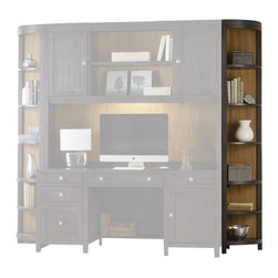 Hooker Furniture - South Park Corner Unit - White glove, in-home delivery included!  Furniture assembly included!  Designed to be both appealing and functional the South Park collection is crafted from hardwood solids and maple veneers.  Corner Unit only.  Other South Park modular wall unit pieces sold separately.  Four adjustable shelves, one fixed shelf.