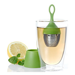 Ad Hoc Floatea Floating Tea Infuser Green - The Ad Hoc Floatea is a fun and easy way to enjoy your favorite tea. The Floatea features a perfectly balanced body allowing the tea ball to float gently on the surface. The functional and stylish design eliminates the need to search for the ball in your cup and the included base allows you to collect the excess drops with no mess.