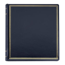 """Exposures - Presidential Leather Photo Album - Overview Thousands of leather photo album connoisseurs can't be wrong. This antiqued top-grain Presidential leather photo album in rich, deep colors, with superb detailing is one of their favorites. Features Goldtone 3-ring photo album Wrapped in antiqued top-grain leather Gold Tooled borders on cover and spine Lined in matching moir  Pages Holds up to 40  3-ring photo pages (3-4 sets) Choose your favorite page style Mix and match pages for a custom photo album We recommend the Presidential Mat Pages (302153) to complete your album Photo pages sold separately  Specifications   11"""" wide by 11 1/2"""" high"""