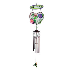 "GWC - 33 Inch Hummingbird Design Heart Shaped ""Welcome"" Metal Wind Chime - This gorgeous 33 Inch Hummingbird Design Heart Shaped ""Welcome"" Metal Wind Chime has the finest details and highest quality you will find anywhere! 33 Inch Hummingbird Design Heart Shaped ""Welcome"" Metal Wind Chime is truly remarkable."