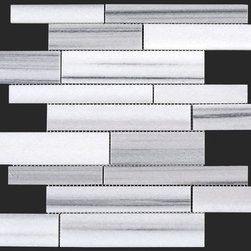 Stone & Co - Equator Marmara Marble Polished Random Strip Mosaic - Finish: Polished