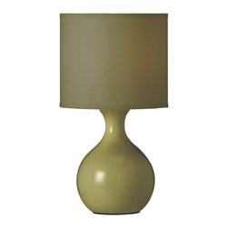 Dainolite - Dainolite 10022-PIST Ceramic Table Lamp W/ Pistachio Shade - Dainolite 10022-PIST Ceramic Table Lamp W/ Pistachio Shade