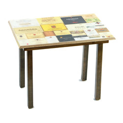 Wine Label Table/Wall Art - It's a table; It's wall art. It's BOTH, and It's Made In the USA!