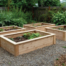 Raised Bed Garden Kits - I fell in love with raised beds after seeing them in movie gardens, like the one in It's Complicated. Obviously these serve a functional gardening purpose, but the wood grain against the color and texture of plants is gorgeous. And as these boxes age and weather, their beauty only increases.