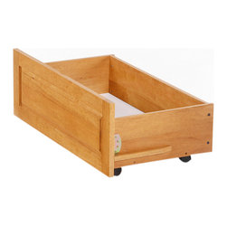 Night And Day Furniture - Drawer Set 2 Drawers For Twin Or Full K Series Beds Medium Oak - Our under-bed storage drawers are the perfect way to add storage space without taking up any additional space in your room. Drawers sre on casters and roll easily right on your floor.