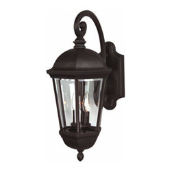 Craftmade - Britannia Large Outdoor Wall Mount - Boasting simple, classic beauty, this outdoor lantern displays clear beveled glass and a durable pro-tech oiled bronze finish.  It features rugged cast construction.  Craftmade - Z3024-92