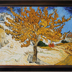 "overstockArt.com - Van Gogh - The Mulberry Tree Oil Painting - 36"" x 48"" Oil Painting On Canvas Hand painted oil reproduction of one of the most famous Van Gogh paintings, The Mulberry Tree. The original masterpiece was created in 1889. Today it has been carefully recreated detail-by-detail, color-by-color to near perfection. Why settle for a print when you can add sophistication to your rooms with a beautiful fine gallery reproduction oil painting? Vincent Van Gogh's restless spirit and depressive mental state fired his artistic work with great joy and, sadly, equally great despair. Known as a prolific Post-Impressionist, he produced many paintings that were heavily biographical. This work of art has the same emotions and beauty as the original by Van Gogh. Why not grace your home with this reproduced masterpiece? It is sure to bring many admirers!"