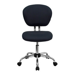 Flash Furniture - Flash Furniture Office Chairs Mesh Task Chairs X-GG-YG-F-6732-H - This value priced mesh task chair will accommodate your essential needs for your home or office space. This chair will add a splash of color to your office for a non-traditional look. Chair features a breathable mesh material with a comfortably padded seat. [H-2376-F-GY-GG]