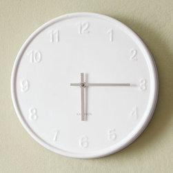 White Wall Clock - A chic and classic wall clock is always in style. White goes with everything.